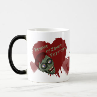 Funny Beware of Zombie Valentines Morphing Mug