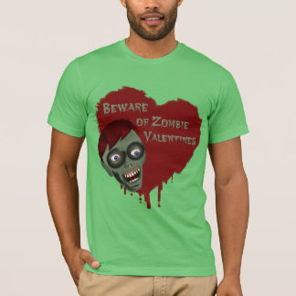 Funny Beware of Zombie Valentines Shirt