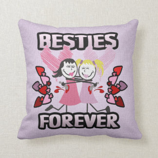 Funny BFF Best Friends Forever Throw Pillow