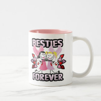 Funny BFF Best Friends Forever Two-Tone Coffee Mug