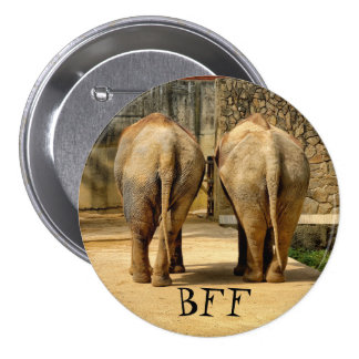 Funny BFF elephants Pinback Button