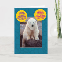 Funny Bi-Polar Birthday Bear Card