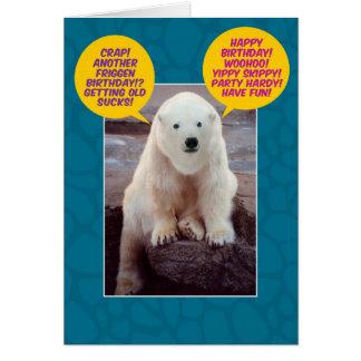 Funny Bi-Polar Birthday Bear Card