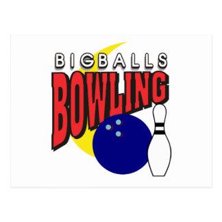 Funny Big Balls Bowling Postcard