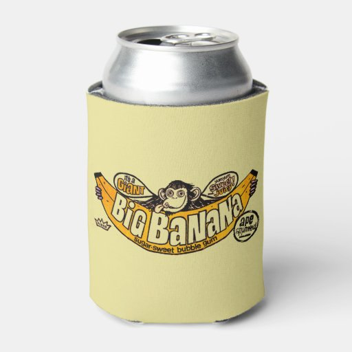 Funny Can Coolers ~ Funny big banana gum can cooler zazzle