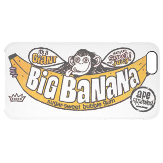 Funny big banana gum clear iPhone 6 plus case