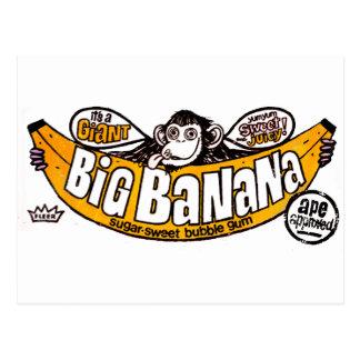 Funny big banana gum postcard