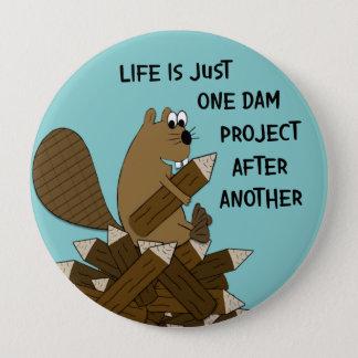 Funny Big Beaver Button