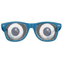 Funny Big Blue Eyes Retro Sunglasses
