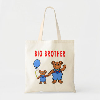 funny big brother bear tote bag for boys vector