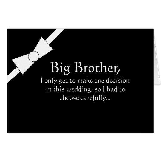 Funny Brother Best Man Invitation Card