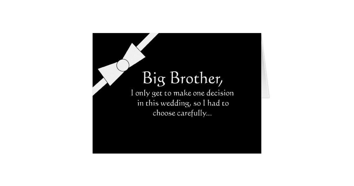 Funny Big Brother Best Man Invitation Card   Zazzle