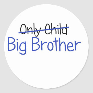 Funny Big Brother Design Round Stickers