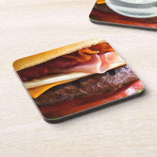 Funny big burger coaster