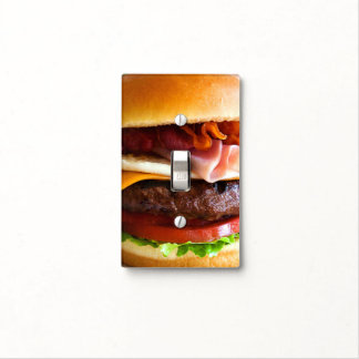Funny big burger light switch cover