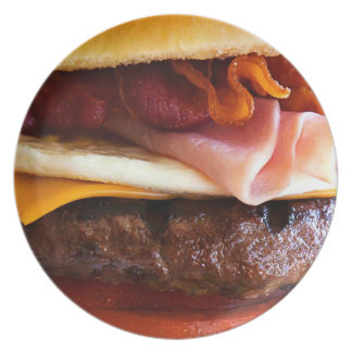 Funny big burger party plate