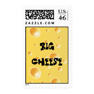 Funny Big Cheese - Yellow Swiss Cheese Texture Stamp