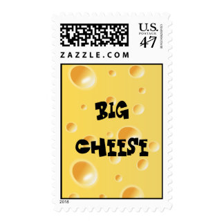 Funny Big Cheese - Yellow Swiss Cheese Texture Postage Stamp