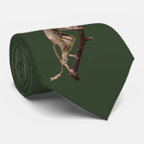 Funny Big Eye Taxidermy Primate | Monkey | Lemur Neck Tie