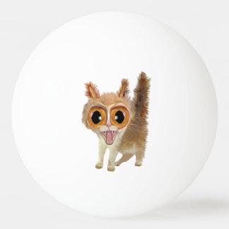 Funny Big Eye'd Kitty Cat Ping-Pong Ball