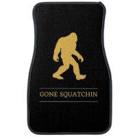 Funny Big Foot Gone Squatchin Sasquatch Car Floor Mat