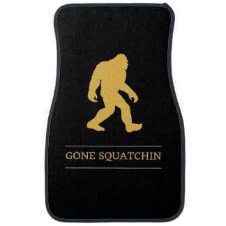 Funny Big Foot Gone Squatchin Sasquatch Car Floor Mat