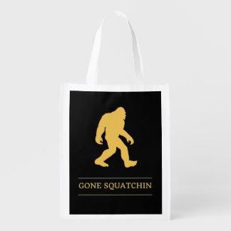 Funny Big Foot Gone Squatchin Sasquatch Reusable Grocery Bag