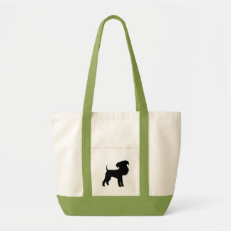 Funny Big Head Airedale Terrier Canvas Bags
