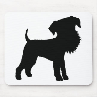 Funny Big Head Airedale Terrier Mouse Mat