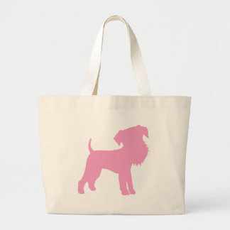 Funny Big Head Airedale Terrier (pink) Tote Bag