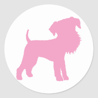 Funny Big Head Airedale Terrier (pink) Sticker