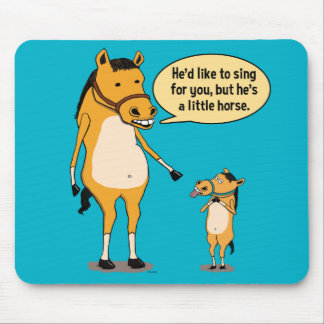 Funny Big Horse and Little Horse Mousepad