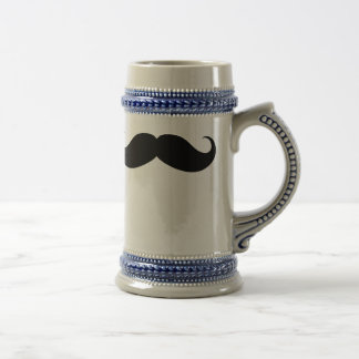 Funny Big Mustache Traditional Beer Stein Mugs