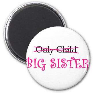 Funny Big Sister in Pink Magnet