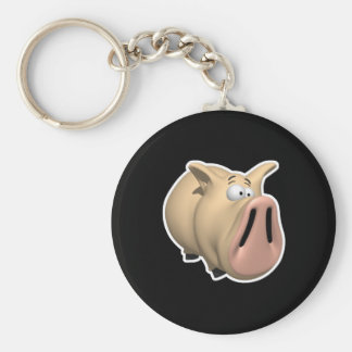 funny big snout pig keychain
