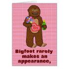 Funny Bigfoot Happy Birthday Pun Cartoon Sasquatch Card