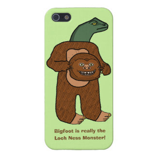 Funny Bigfoot Loch Ness Monster Cartoon iPhone SE/5/5s Cover