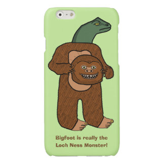 Funny Bigfoot Loch Ness Monster Humor Glossy iPhone 6 Case