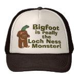 Funny Bigfoot Loch Ness Monster Trucker Hat