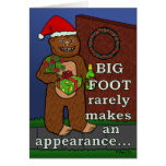 Funny Bigfoot Merry Christmas Pun Greeting Card