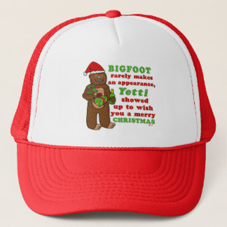 Funny Bigfoot Merry Christmas Sasquatch Pun Trucker Hat