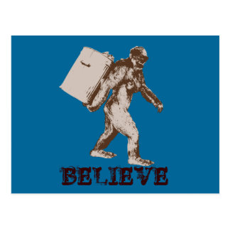 Funny Bigfoot Postcard