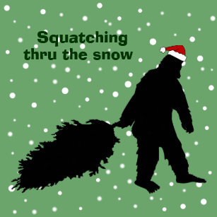funny bigfoot squatching christmas wrapping paper - Funny Christmas Wrapping Paper