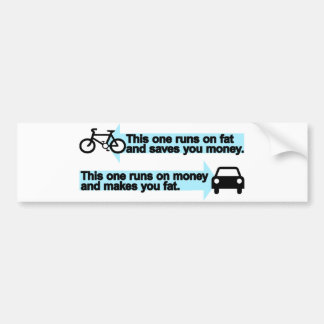 Funny Bike versus Car Bumper Sticker