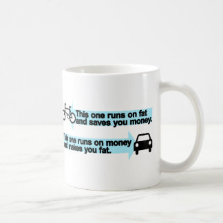Funny Bike versus Car Coffee Mug
