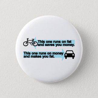 Funny Bike versus Car Pinback Button