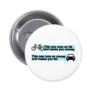 Funny Bike versus Car Pinback Button