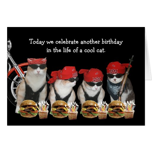 Funny Motorcycle Birthday Cards