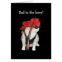 Funny Biker/Nonconformist Cat Birthday Card