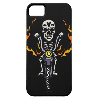 Funny Biker Skeleton on Motorcycle Gothic Art iPhone SE/5/5s Case